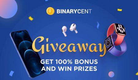 Promoção de Depósito Binarycent - Bônus de até 100%