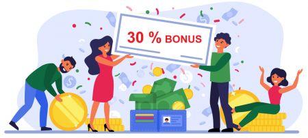 Promoção de depósito Quotex - Bônus de 30%