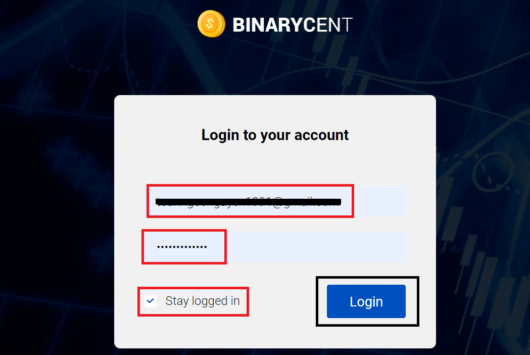 How to Register and Trade Binary Option at Binarycent