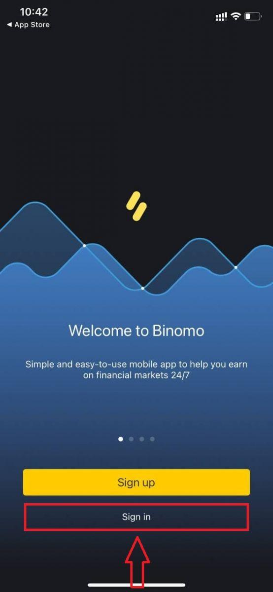 How to Login and start Trading CFD at Binomo