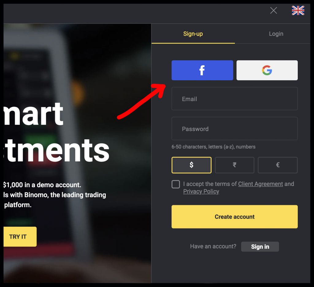 How to Register and Verify Account in Binomo
