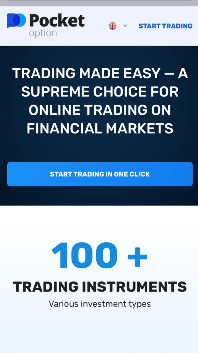How to Register and Trade Binary Option at Pocket Option